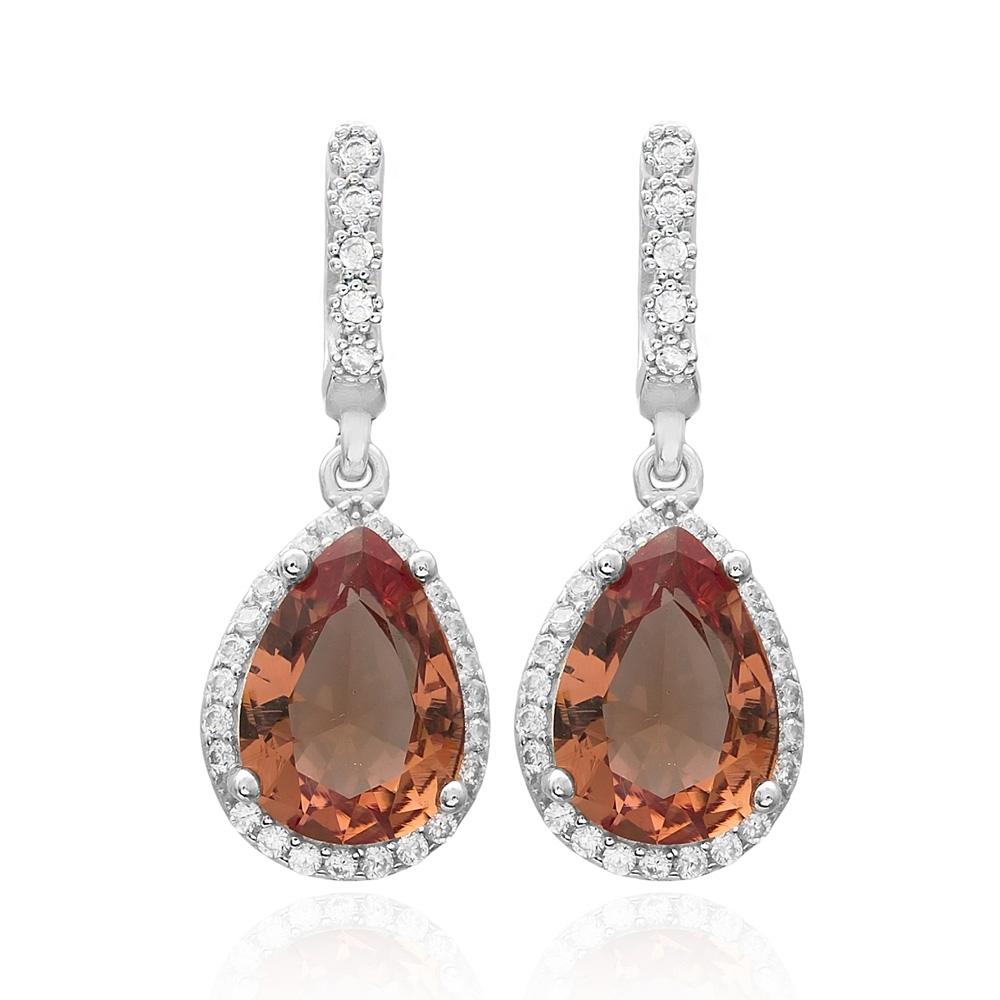 New Fashion Drop Shape Zultanite Stone Earrings Turkish Wholesale 925 Sterling Silver Jewelry