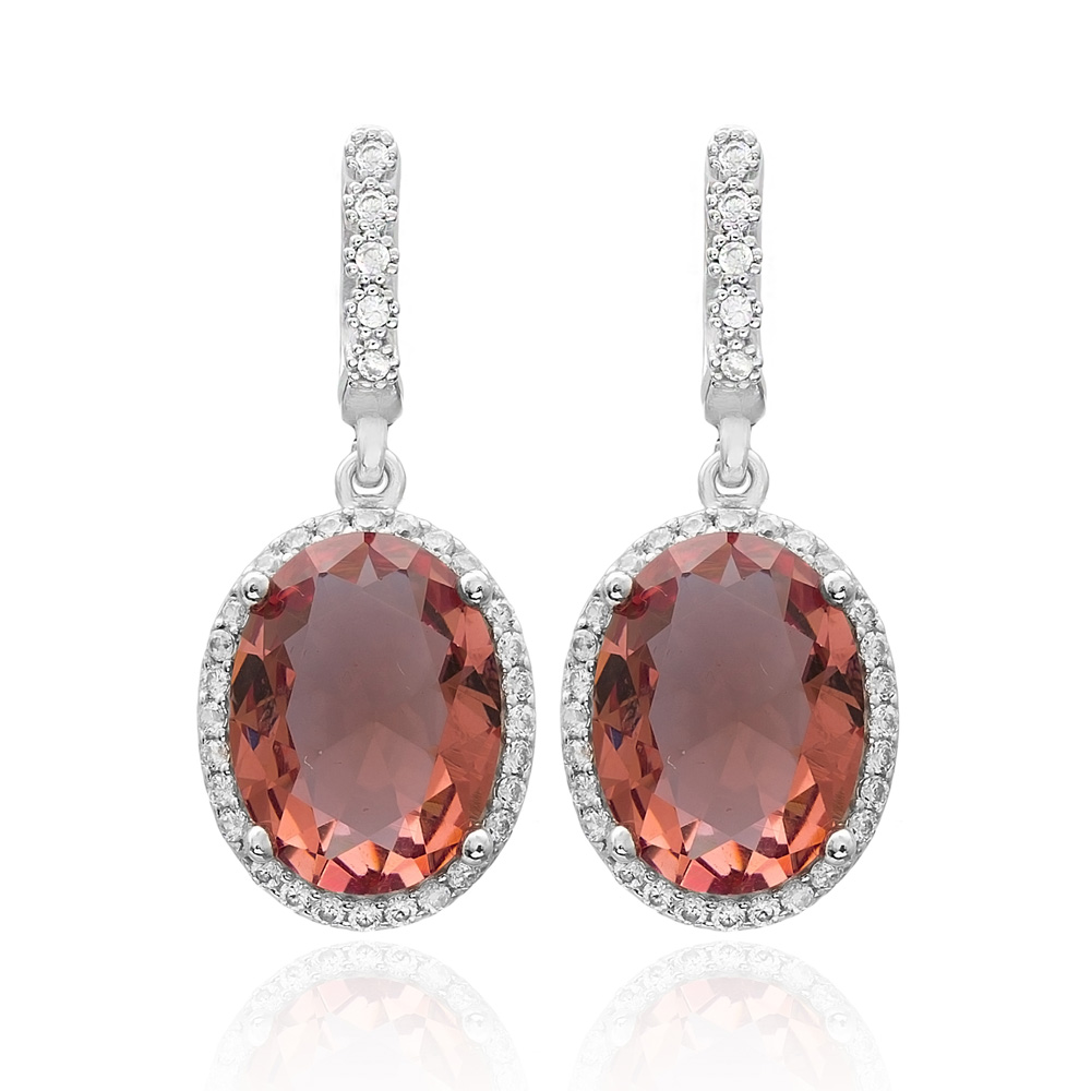 Diamond Cut Zultanite Stone Earrings Turkish Wholesale 925 Sterling Silver Jewelry