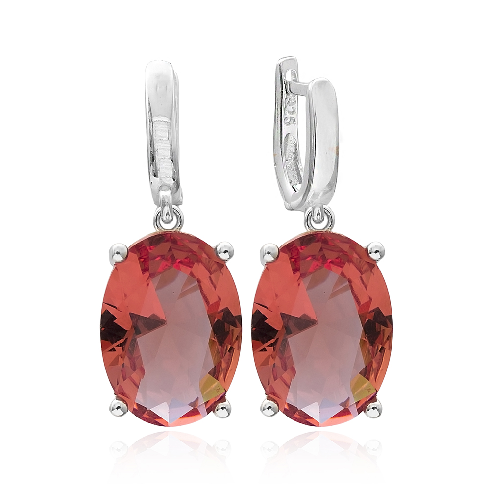 Zultanite Stone Oval Shape Earrings Turkish Wholesale 925 Sterling Silver Jewelry