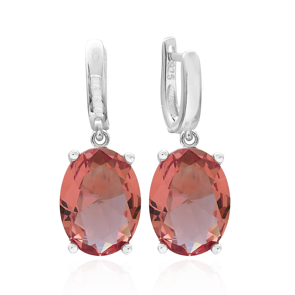 Oval Shape Zultanite Stone Earrings Turkish Wholesale 925 Sterling Silver Jewelry