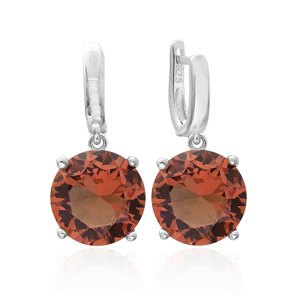 Zultanite Stone Round Shape Earrings Turkish Wholesale 925 Sterling Silver Jewelry