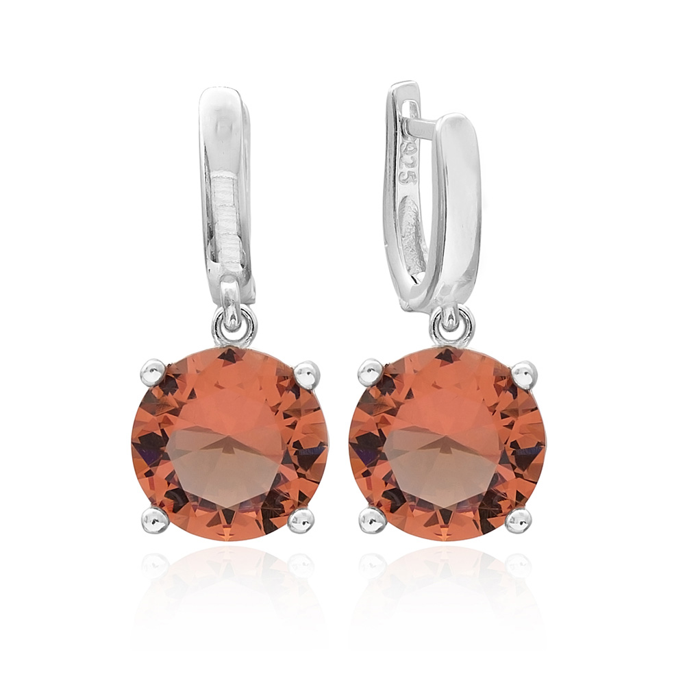 New Design Zultanite Stone Round Shape Earrings Turkish Wholesale 925 Sterling Silver Jewelry