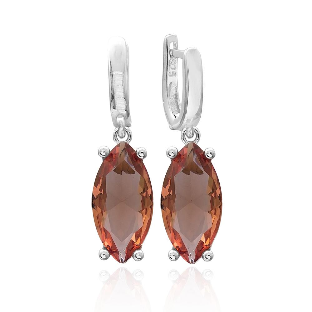 Oval Shape Zultanite Stone Earrings Turkish Wholesale 925 Sterling Silver Jewelry