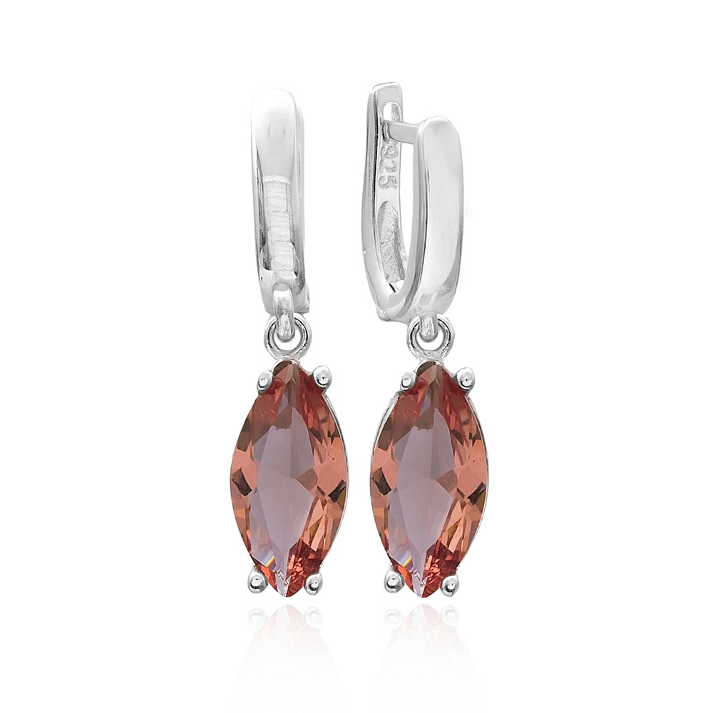 Trendy Oval Shape Zultanite Stone Earrings Turkish Wholesale 925 Sterling Silver Jewelry