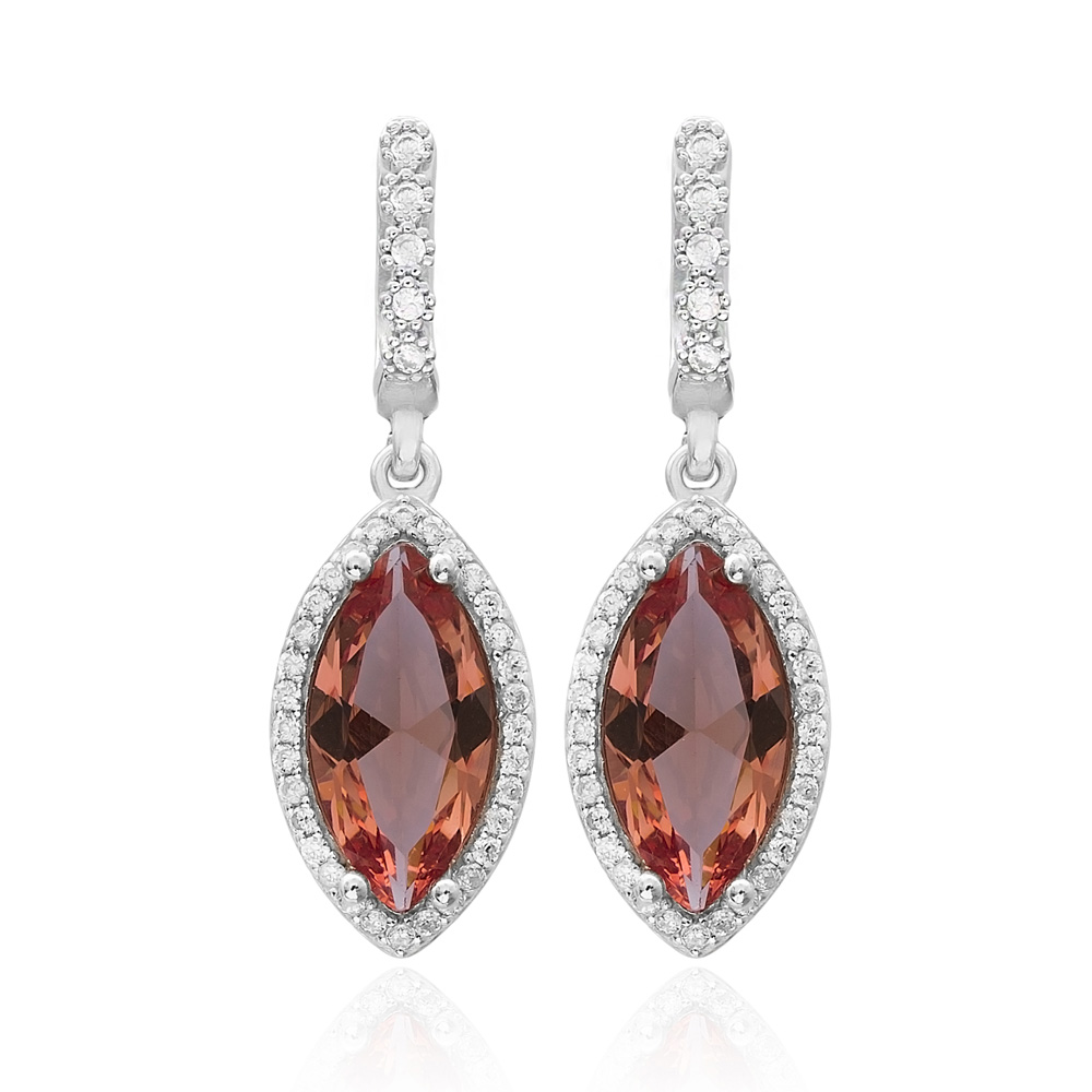 Fashionable Zultanite Stone Earrings Turkish Wholesale 925 Sterling Silver Jewelry
