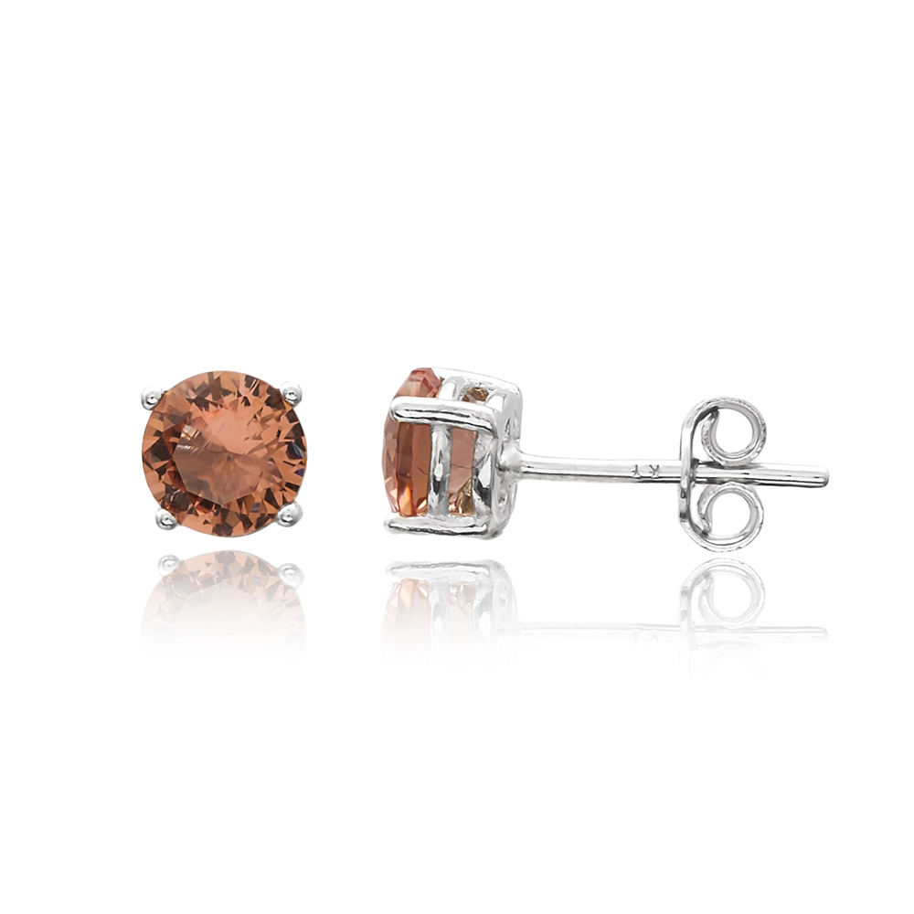 Fashionable Minimalist Zultanite Stone Earrings Turkish Wholesale 925 Sterling Silver Jewelry