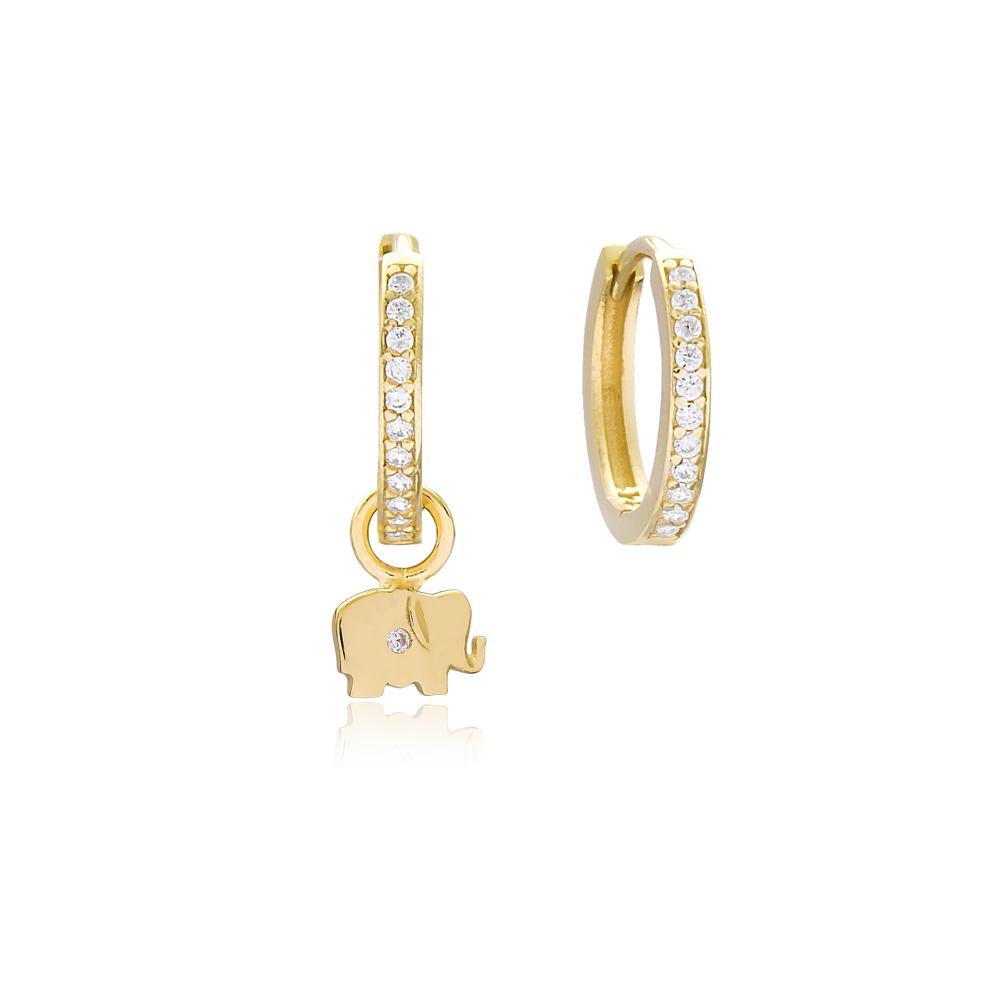 Elephant Design Earrings Handmade 925 Sterling Silver Jewelry