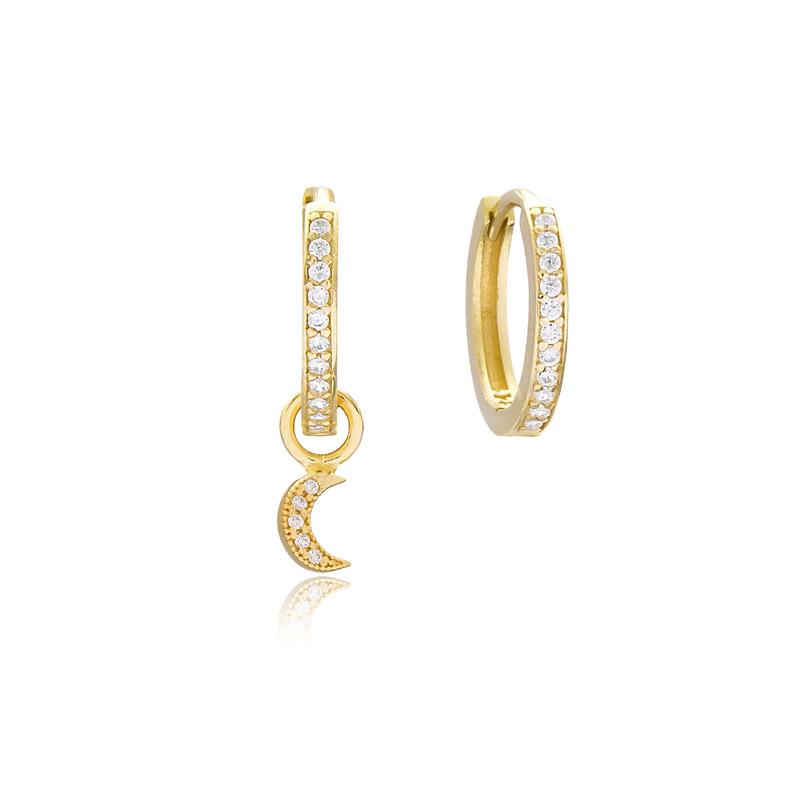 Moon Shape Earrings Handmade 925 Sterling Silver Jewelry