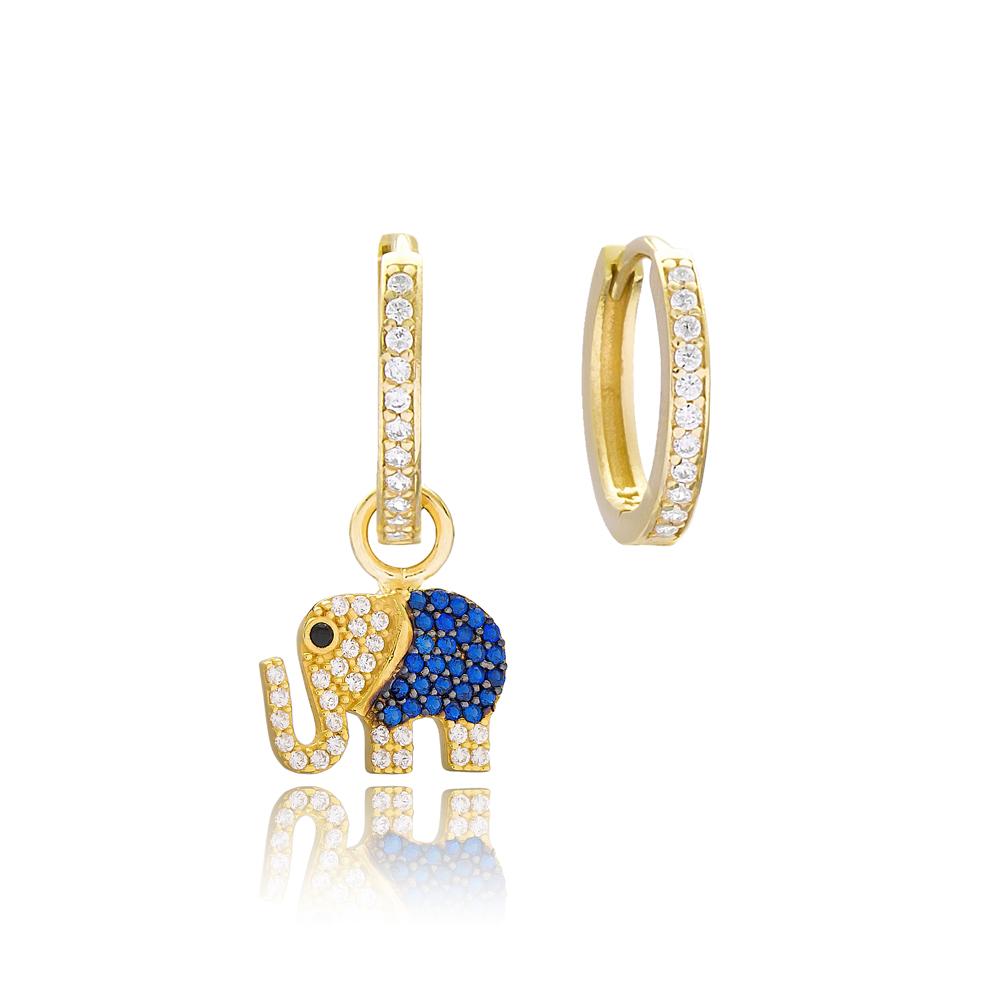 Elephant Design Earrings Wholesale Handmade 925 Sterling Silver Jewelry