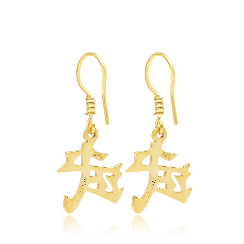 Japanese Warrior Kanji Symbol Turkish Wholesale Handmade 925 Sterling Silver Jewelry