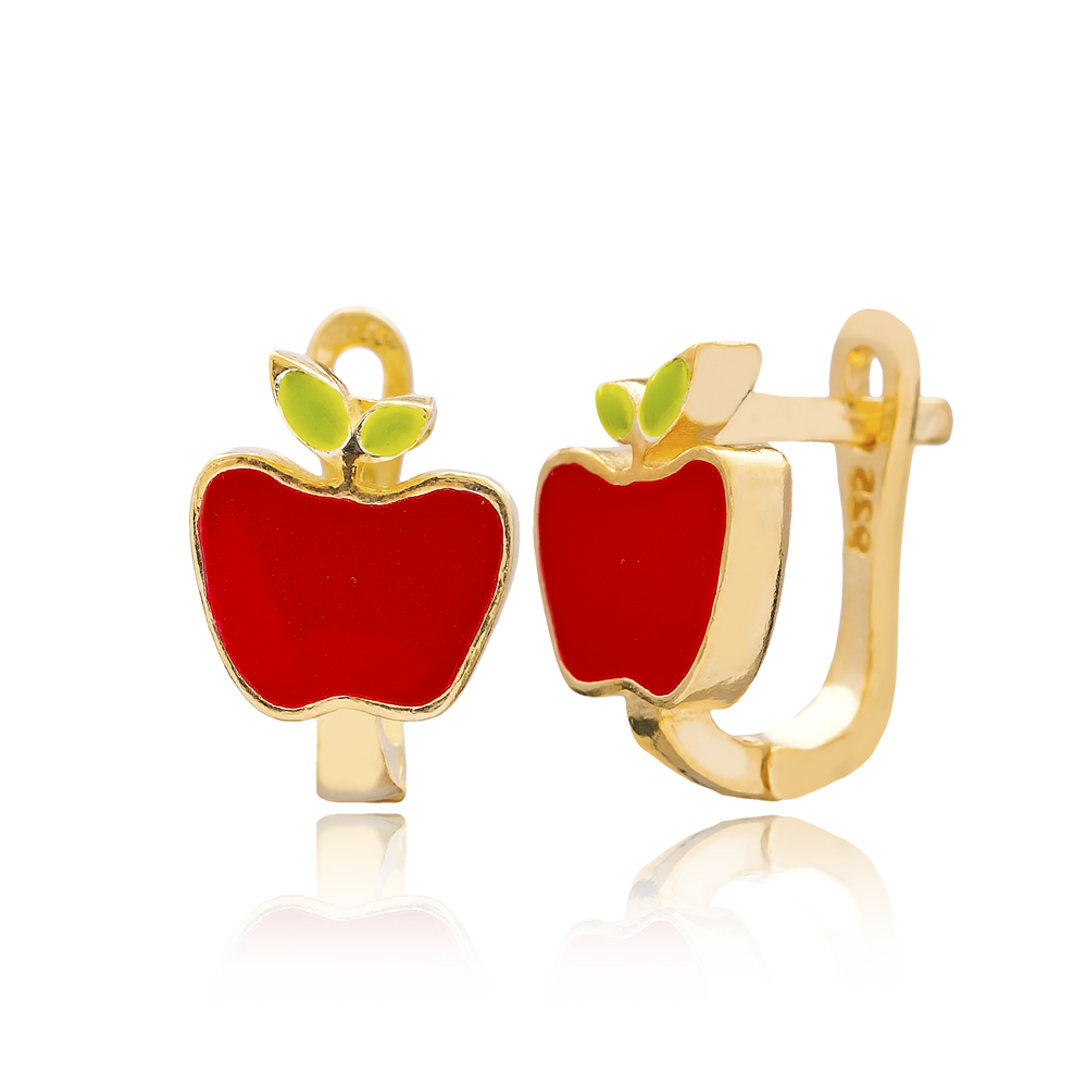 Apple Design Turkish Handmade Wholesale 925 Sterling Silver Jewelry