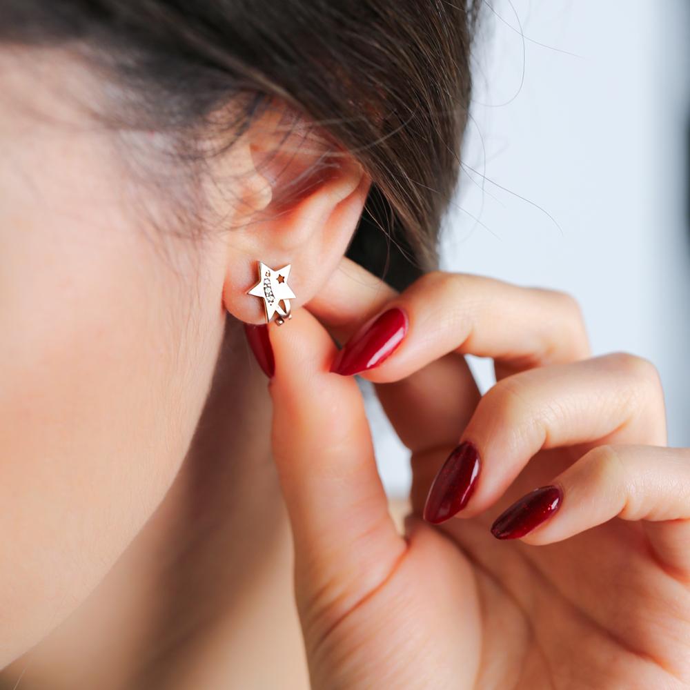 Minimalist Star Shape Design Turkish Handmade Wholesale 925 Sterling Silver Jewelry