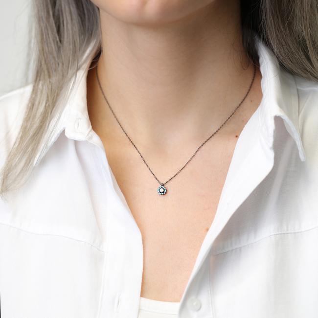 Tiny Round Design Pendant Turkish Wholesale Silver Jewelry