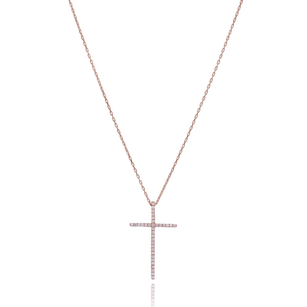 Fine Cross Pendant Turkish Wholesale 925 Sterling Silver Jewelry