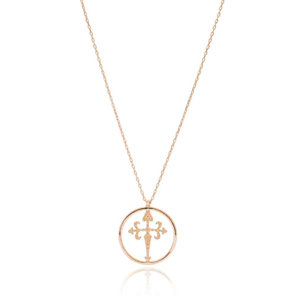 Gothic Cross Pendant Turkish Wholesale 925 Sterling Silver Jewelry
