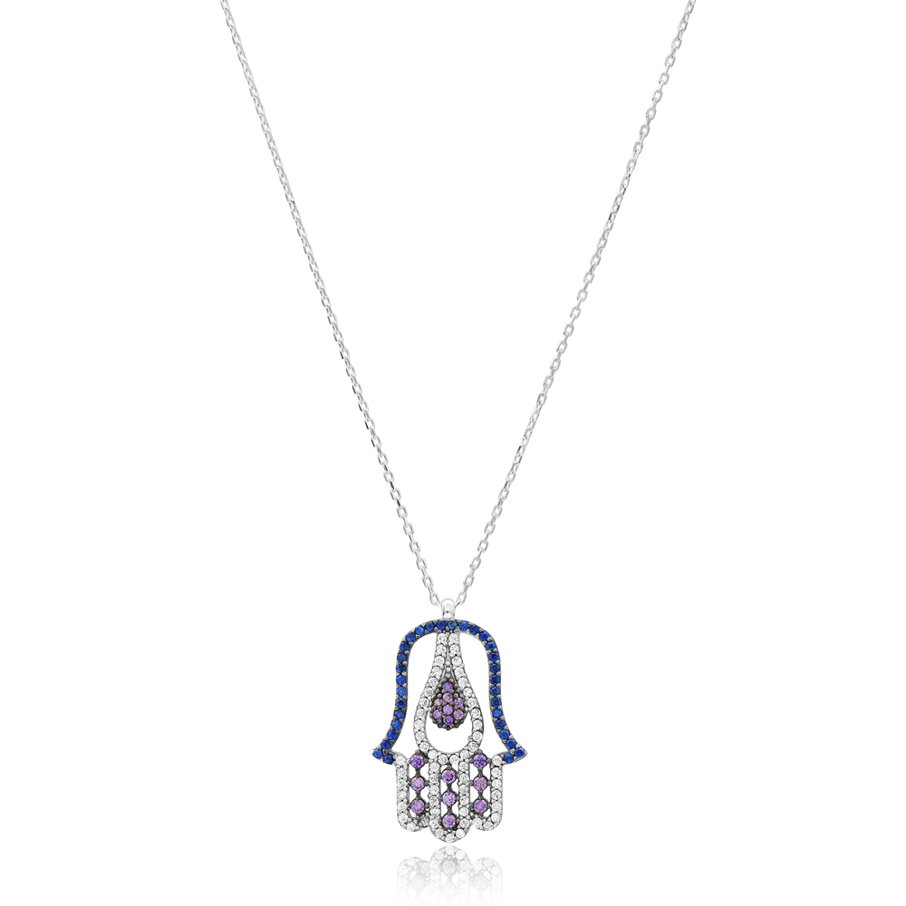 Hamsa Design Pendant Turkish Wholesale 925 Sterling Silver Jewelry