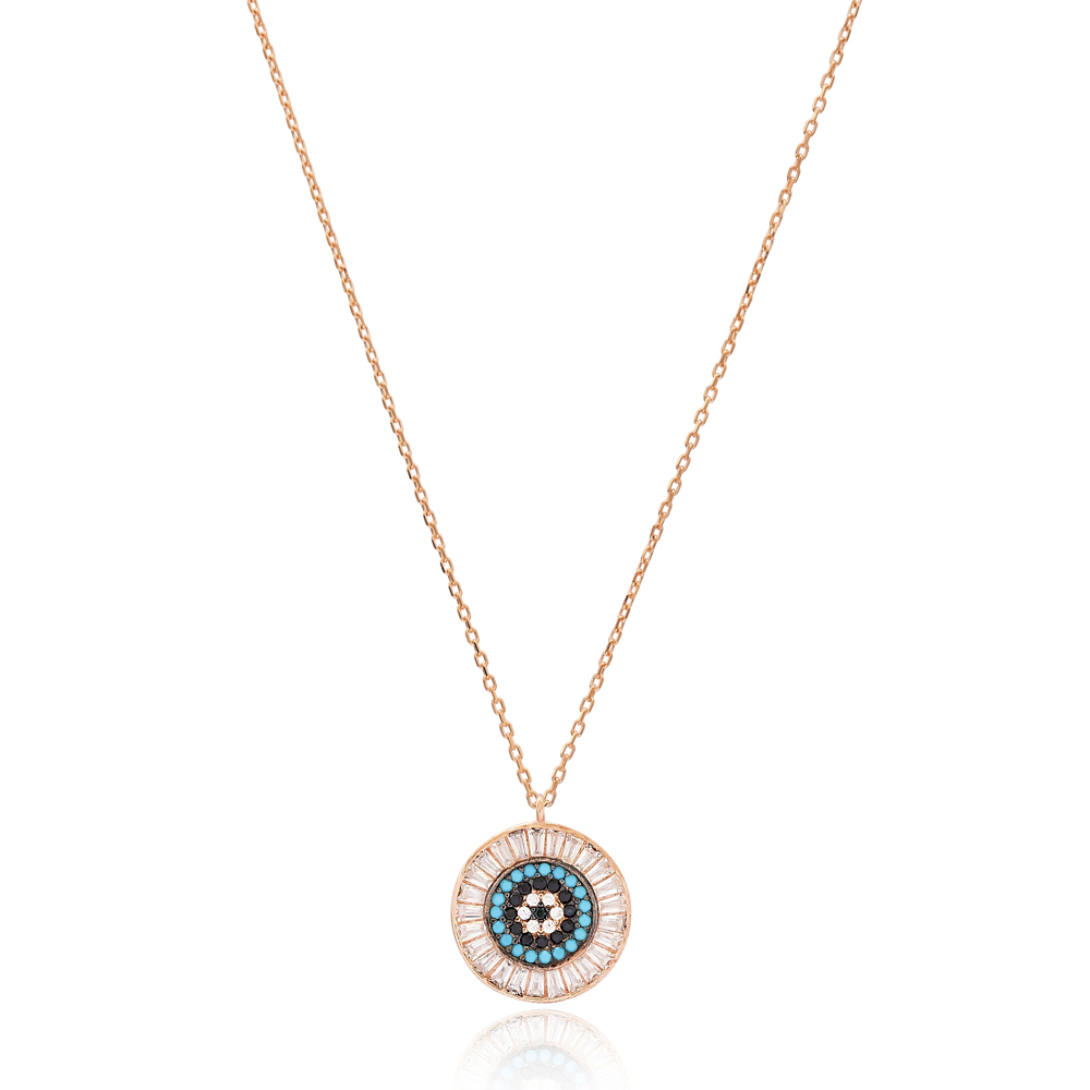 Evil Eye Design Pendant Turkish Wholesale 925 Sterling Silver Jewelry