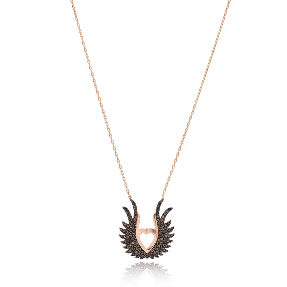 Wings Design Pendant Turkish Wholesale 925 Sterling Silver Jewelry