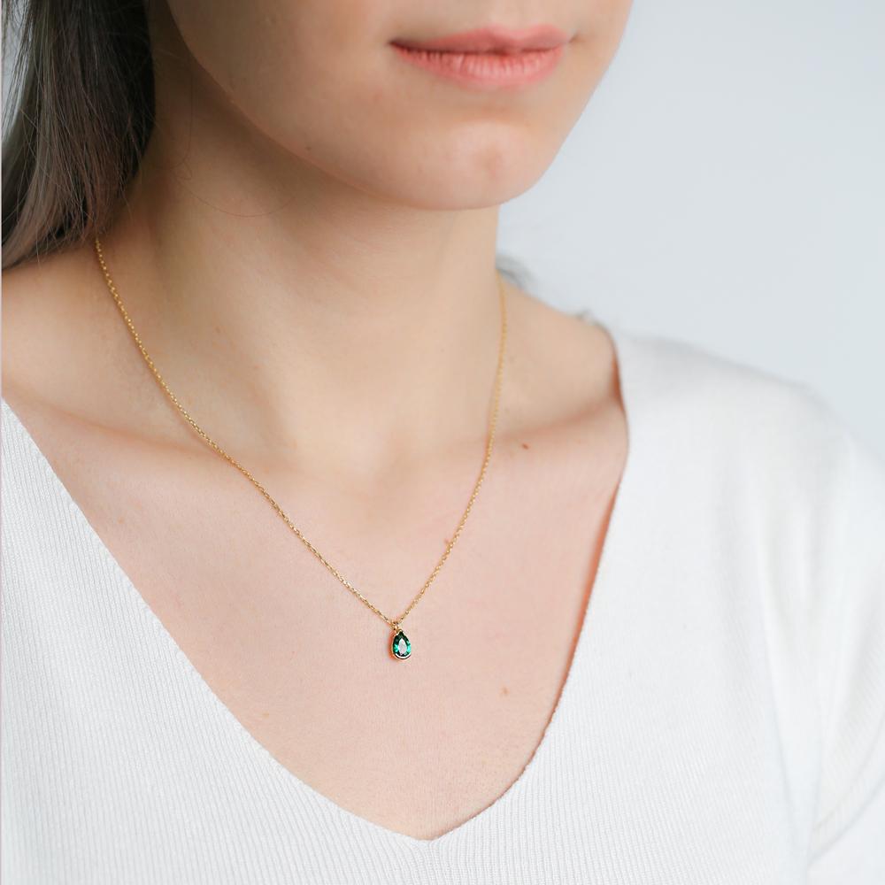 Teardrop Gemstone Pendant In Wholesale 925 Sterling Silver Jewelry