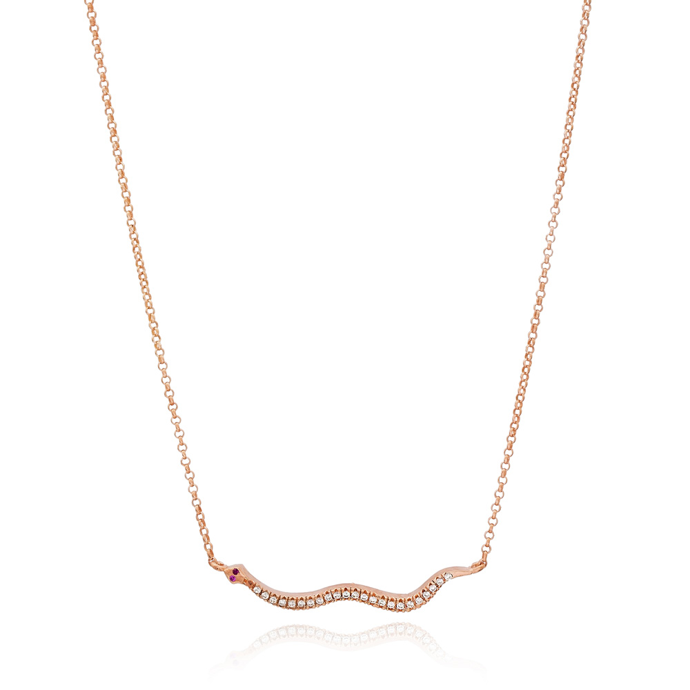 Snake Pendant Turkish Wholesale 925 Sterling Silver Jewelry