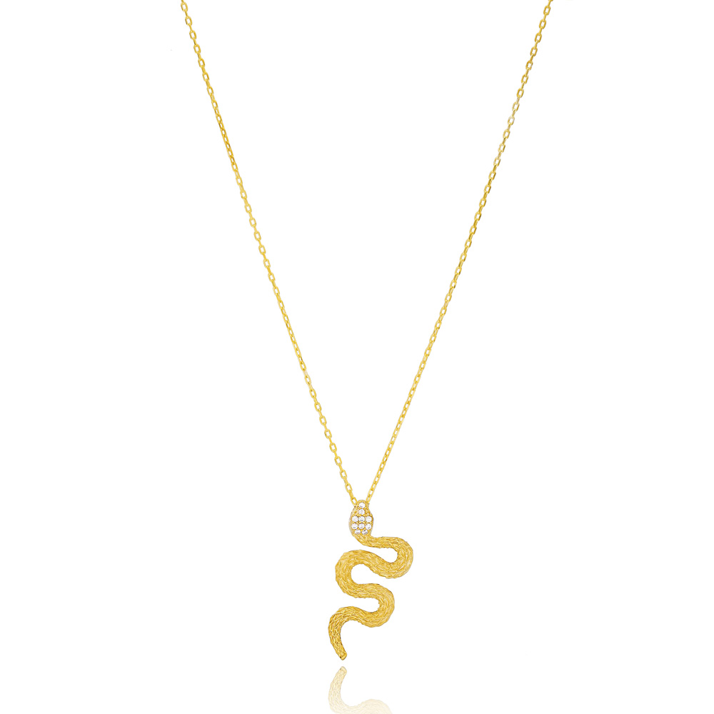 Snake Design Pendant Turkish Wholesale 925 Sterling Silver Jewelry