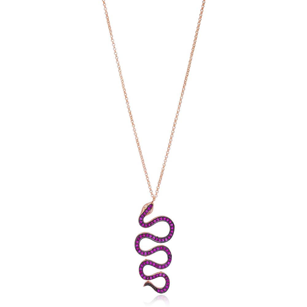 Wholesale 925 Sterling Silver Snake Design Handcrafted Pendant