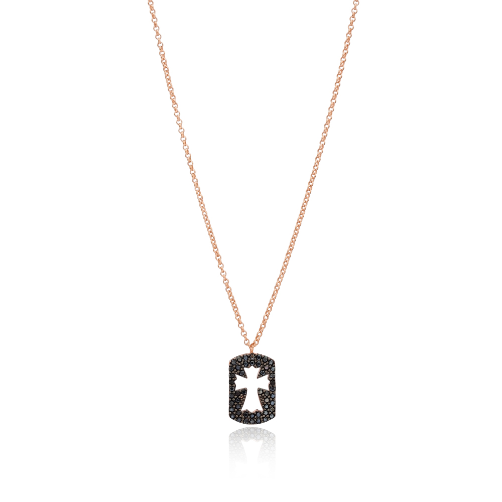 Delicate Cross Pendant Turkish Wholesale 925 Sterling Silver Jewelry