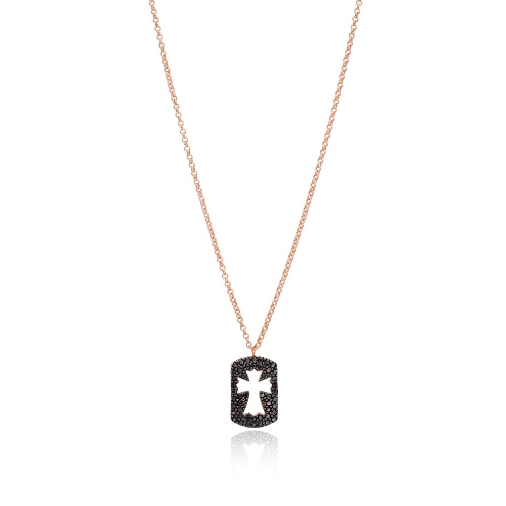 Delicate Cross Pendant Turkish Wholesale 925 Sterling Silver Jewelry