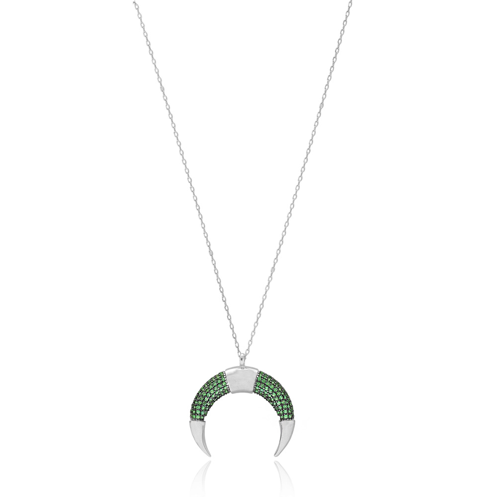 Horn Design Pendant Wholesale 925 Sterling Silver Jewelry