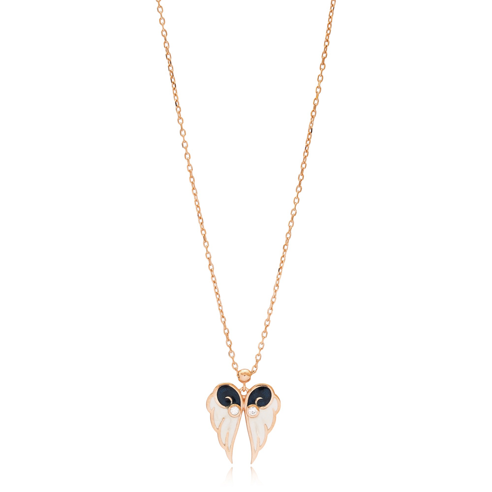 Wing Design Enamel Pendant Wholesale 925 Sterling Silver Jewelry