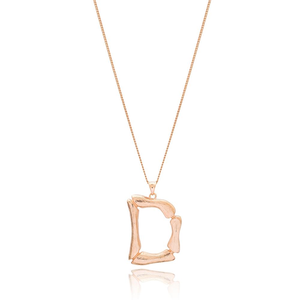 Alphabet D Letter Design Pendant Turkish Wholesale Handmade 925 Sterling Silver Jewelry