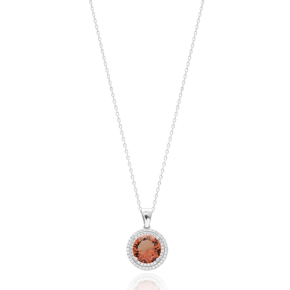 Elegant Round Shape Zultanite Stone Pendant Turkish Wholesale 925 Sterling Silver Jewelry