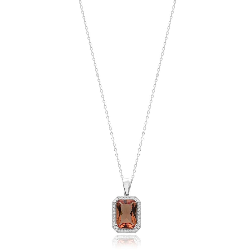 Zultanite Stone Rectangle Shape Pendant Turkish Wholesale 925 Sterling Silver Jewelry
