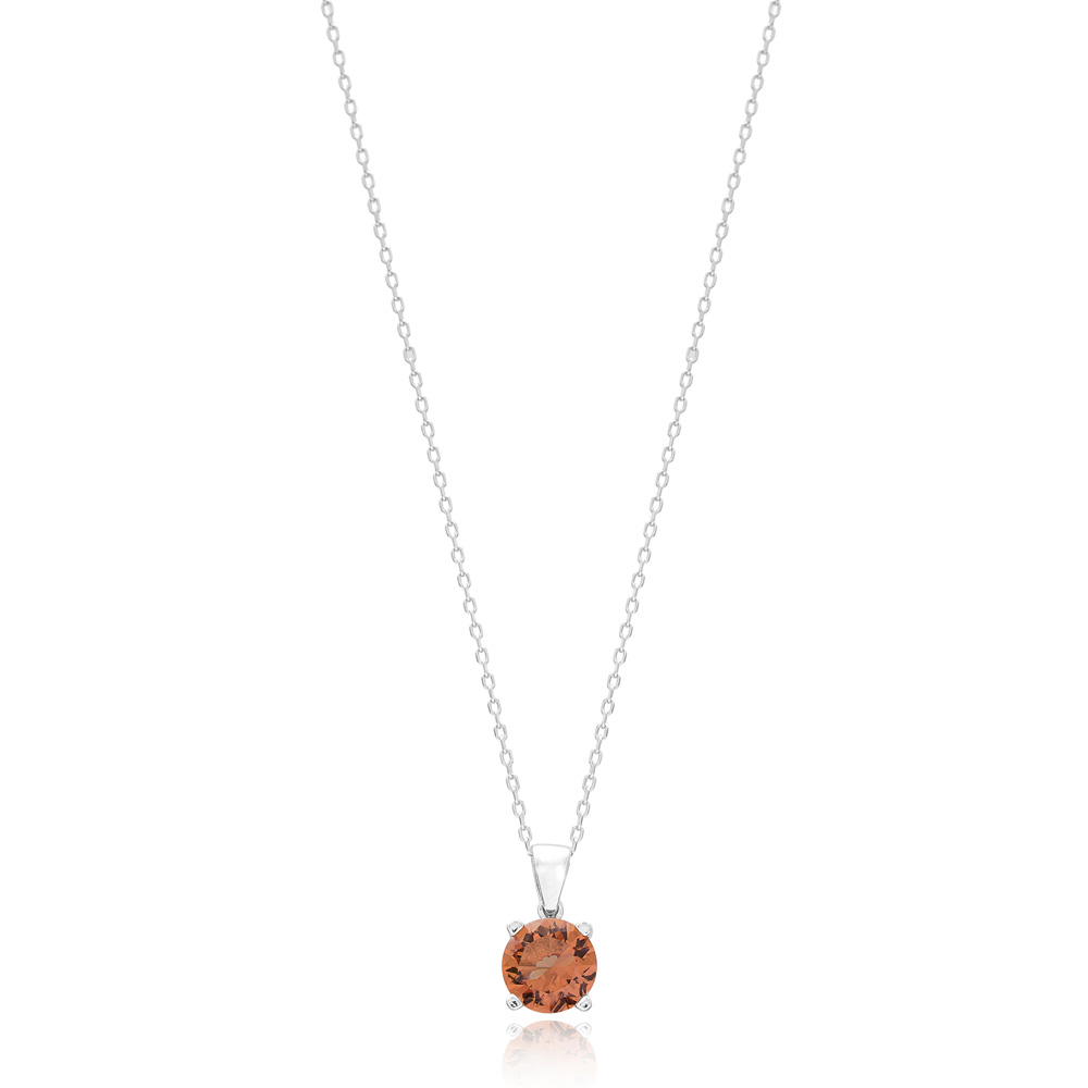 Round Shape Zultanite Stone Pendant Turkish Wholesale 925 Sterling Silver Jewelry