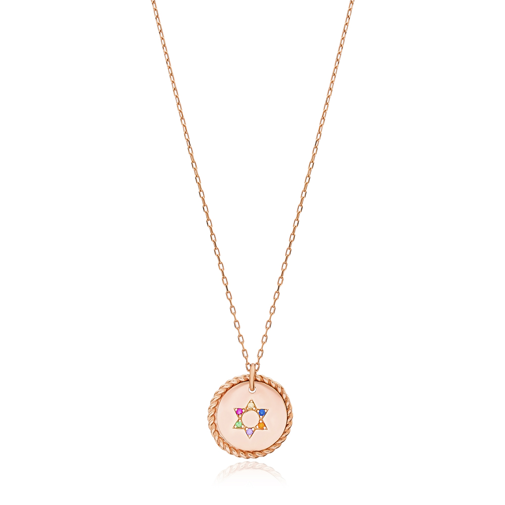 Rainbow Rocking Star Charm Pendant Wholesale Handmade Turkish 925 Silver Sterling Jewelry