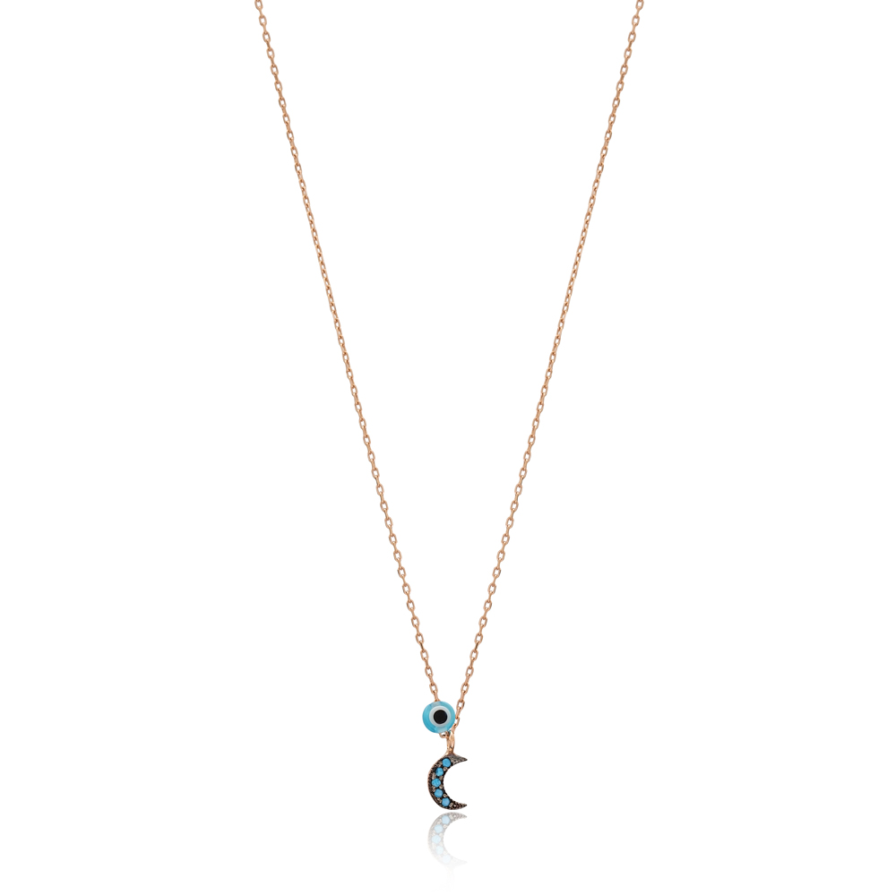 Crescent Moon Charm a Wholesale Handmade Turkish 925 Silver Sterling Jewelry