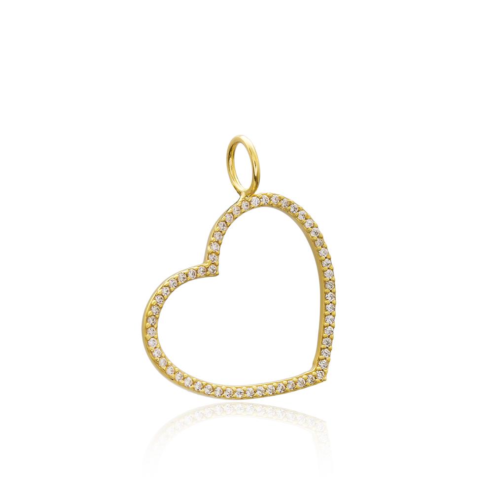 Heart Charm Wholesale Handmade Turkish 925 Silver Sterling Jewelry