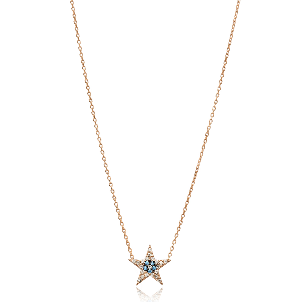 Star Charm Wholesale Handmade Turkish 925 Silver Sterling Necklace