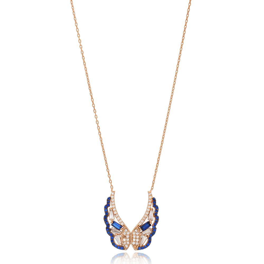 Butterfly Charm Wholesale Handmade Turkish 925 Silver Sterling Necklace