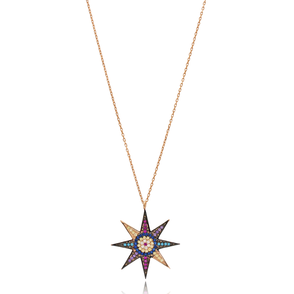 North Star Charm Wholesale Handmade Turkish 925 Silver Sterling Necklace
