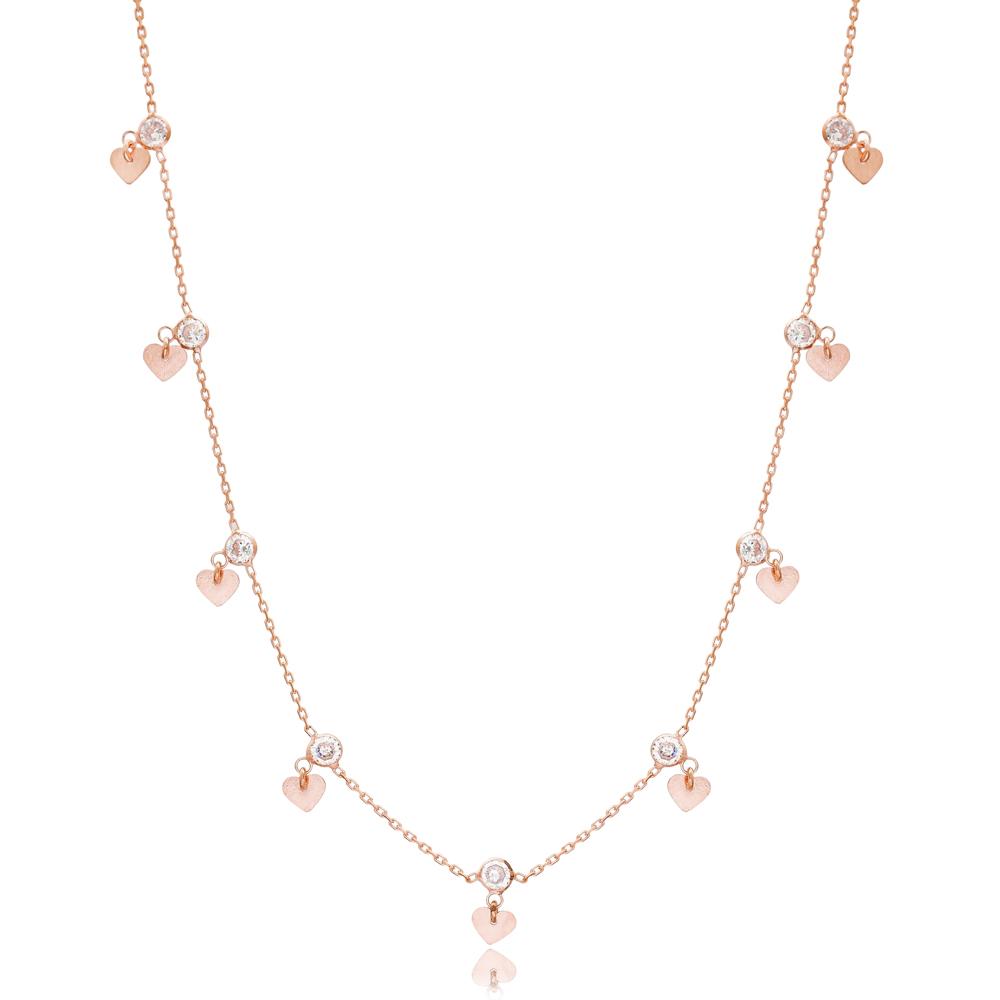 Heart Shaker Zircon Turkish Wholesale 925 Sterling Silver Necklace