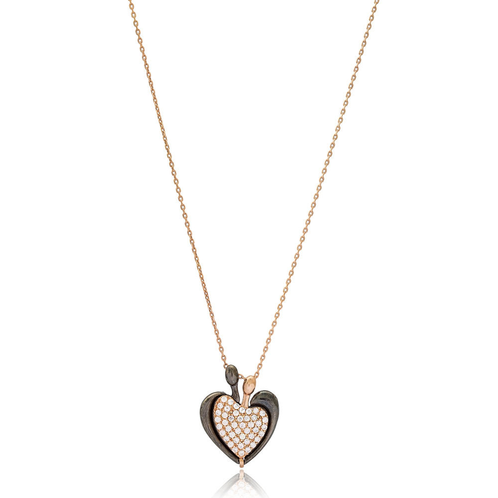 Fashionable Heart Necklace Wholesale Handmade 925 Silver Sterling Jewelry