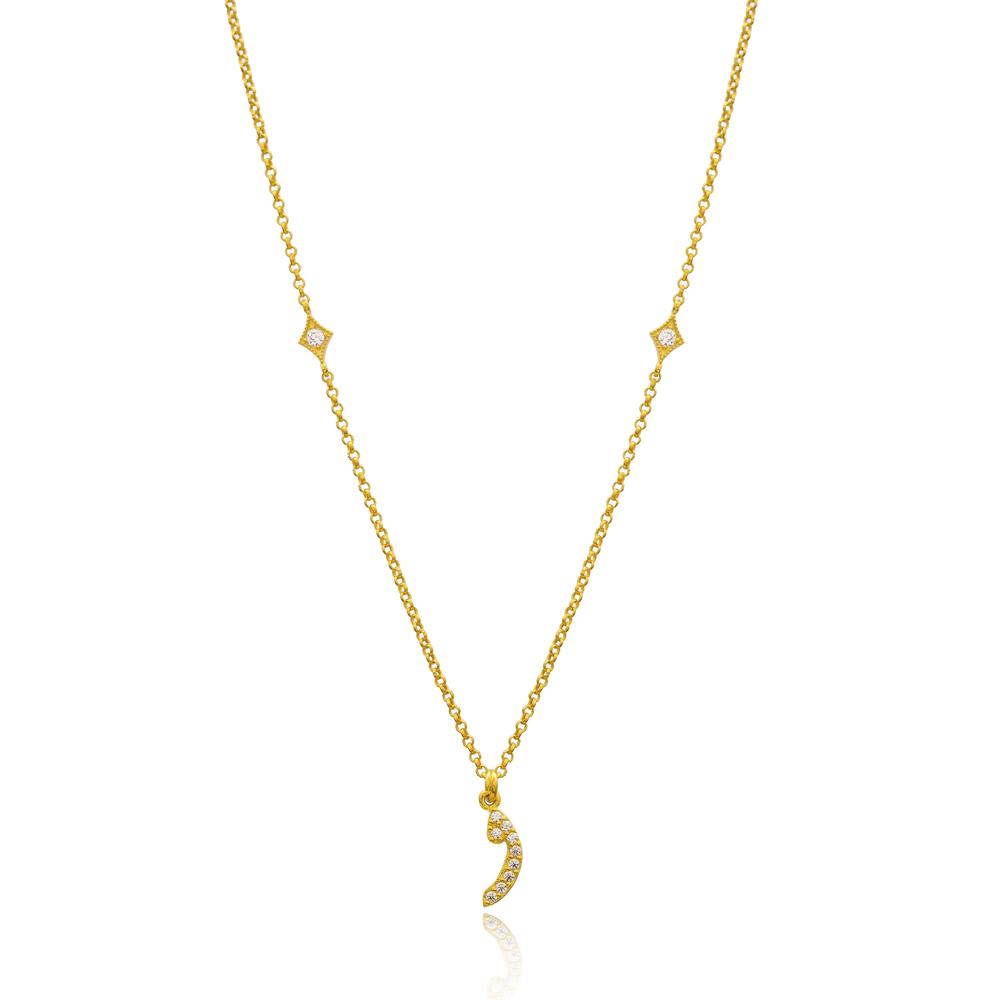 Waav Letter Arabic Alphabet Design Wholesale Handmade 925 Silver Sterling Necklace