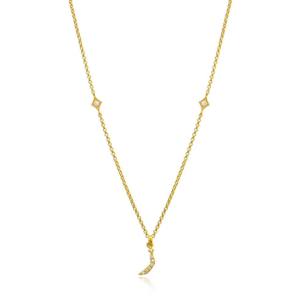 Ze Letter Arabic Alphabet Design Wholesale Handmade 925 Silver Sterling Necklace