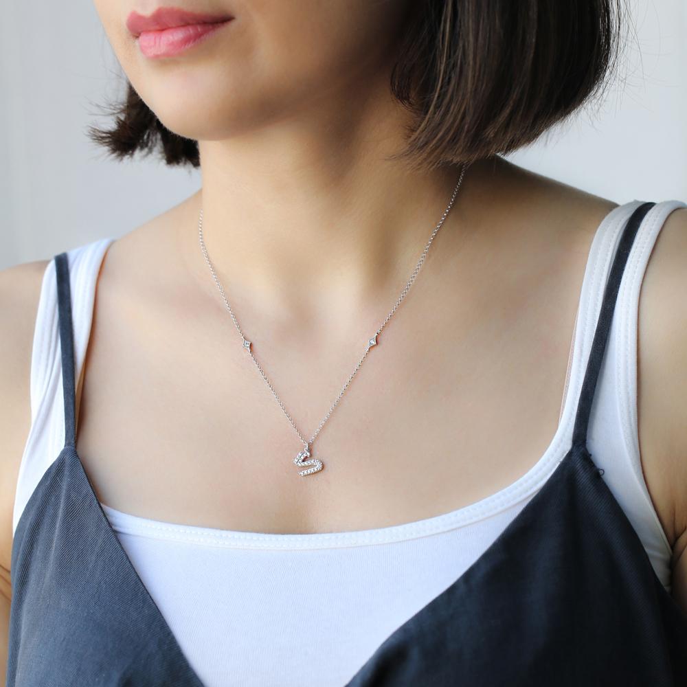 Ghaf Letter Arabic Alphabet Design Wholesale Handmade 925 Silver Sterling Necklace