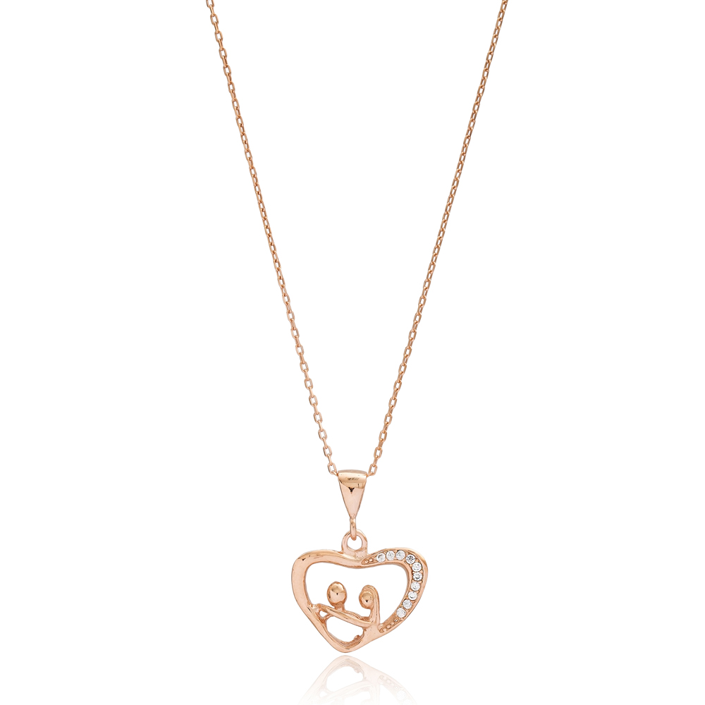 Valentine's in Heart Charm Turkish Wholesale 925 Sterling Silver Jewelry