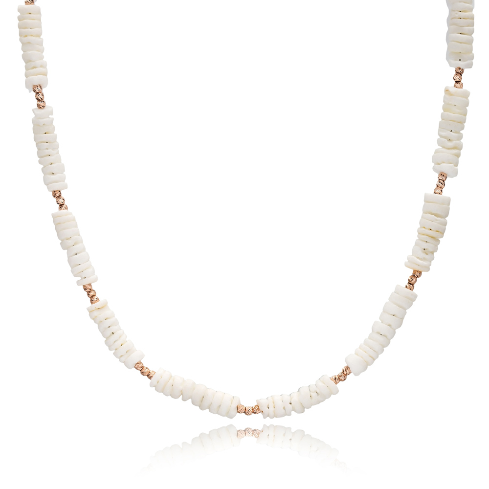 Summer Style Dainty Design Necklace Turkish Handmade 925 Sterling Silver Jewelry