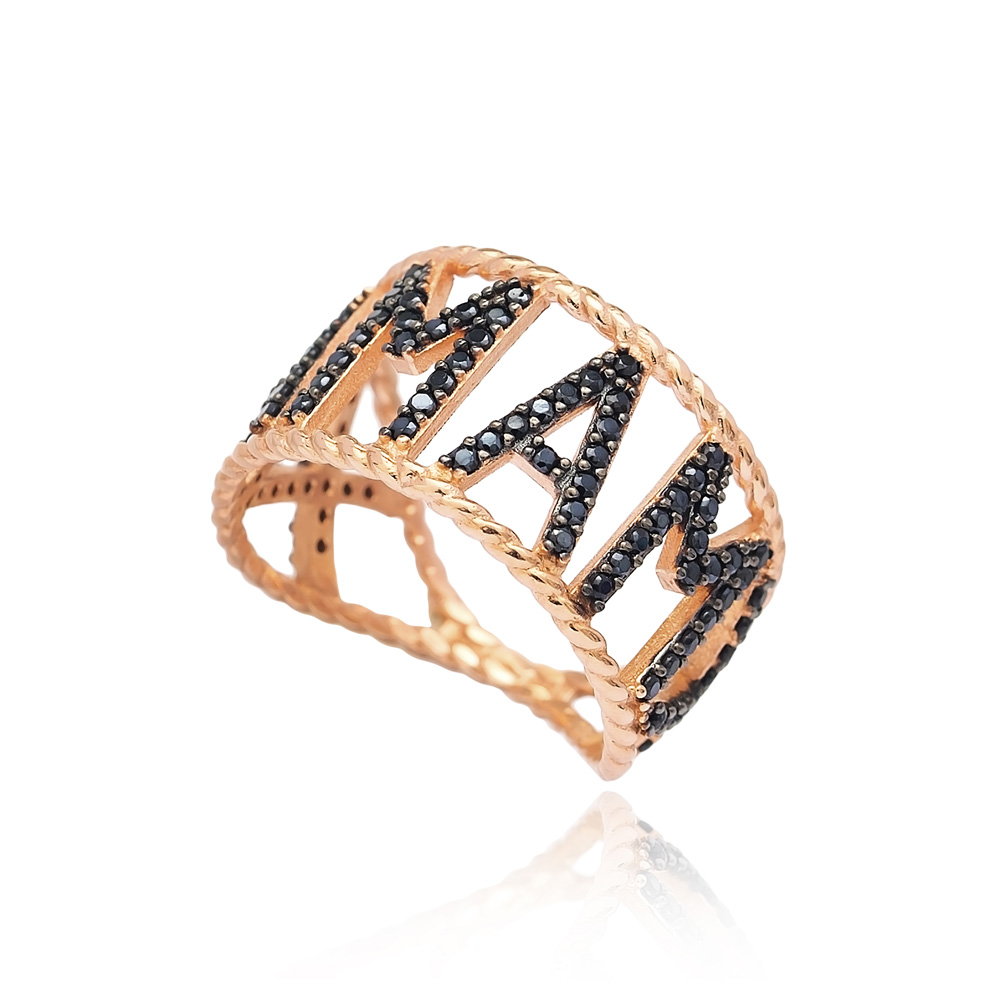 Personalized Mama Ring Wholesale Handcrafted 925 Sterling Silver Jewelry