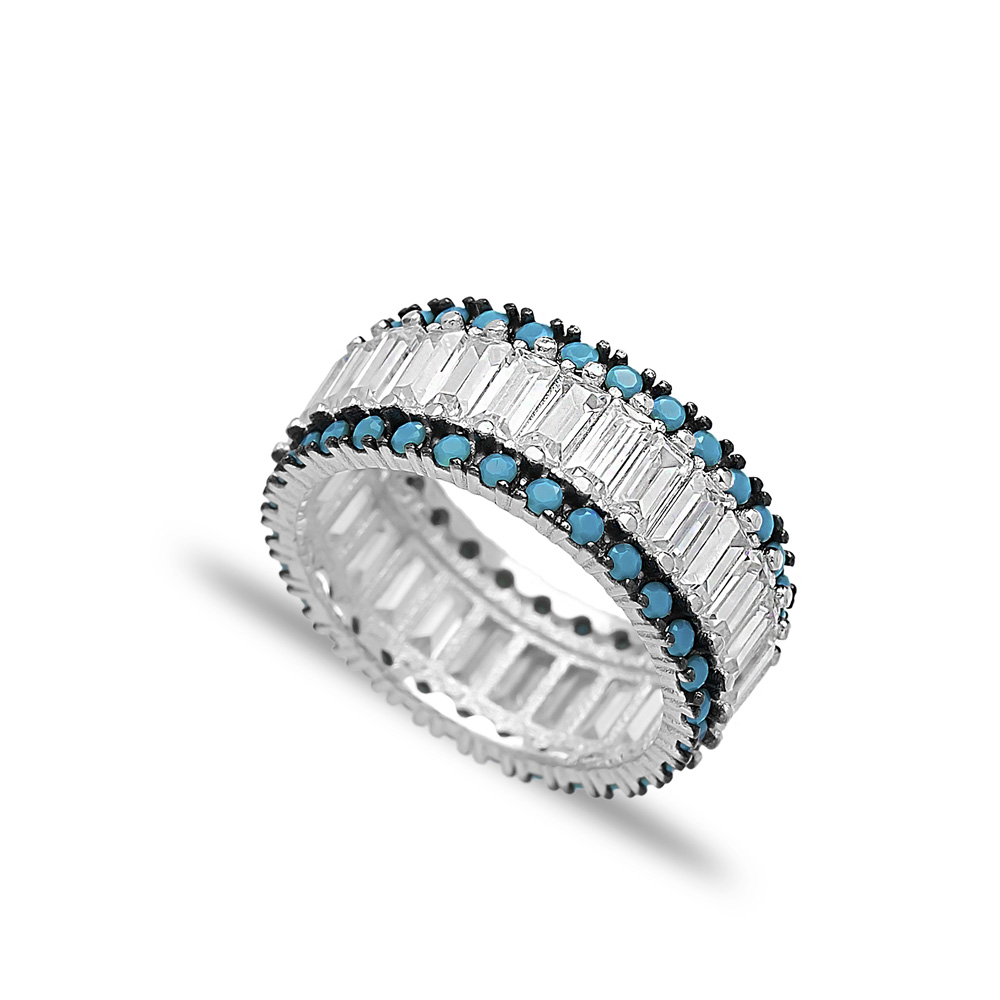 Baguette Band Ring Wholesale Handcrafted 925 Sterling Silver Ring