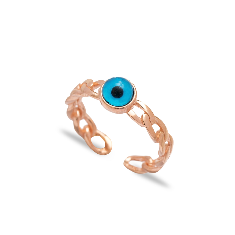 Evil Eye Silver Ring Turkish Wholesale Handcrafted Silver Jewelry